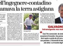 GALVAGNO : Intransigente, ma  mai fazioso  nella difesa dell'ambiente- L'opera dell'Ing.Giuseppe Ratti ricordata dall'Università  e della città.