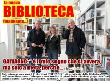 """Biblioteca: Galvagno, la """"nuova"""" Biblioteca è un mio sogno che si avvera, ma con un po' di amaro in bocca perché…"""