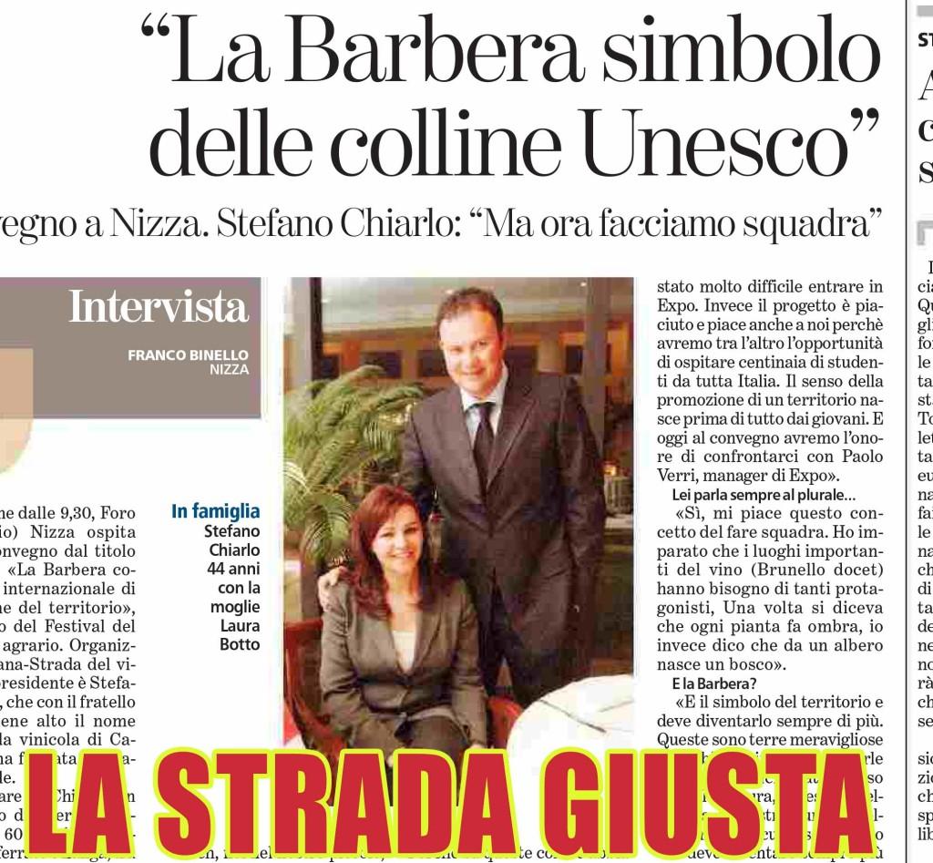 LA BARBERA SIMBOLO DELL'UNESCO  8 febbraio